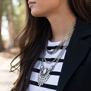 Silver Edgy Art Deco Necklace